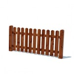 Забор штакетный