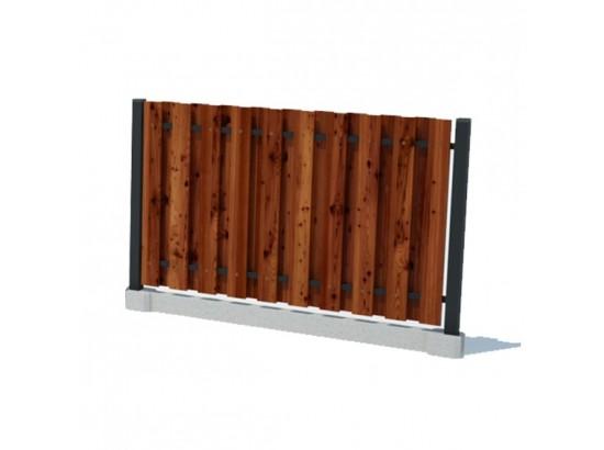 Забор вертикальный (шахматный)