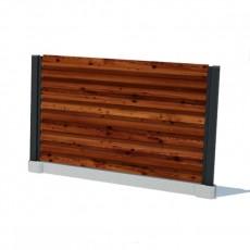 Забор горизонтальный (жалюзи)